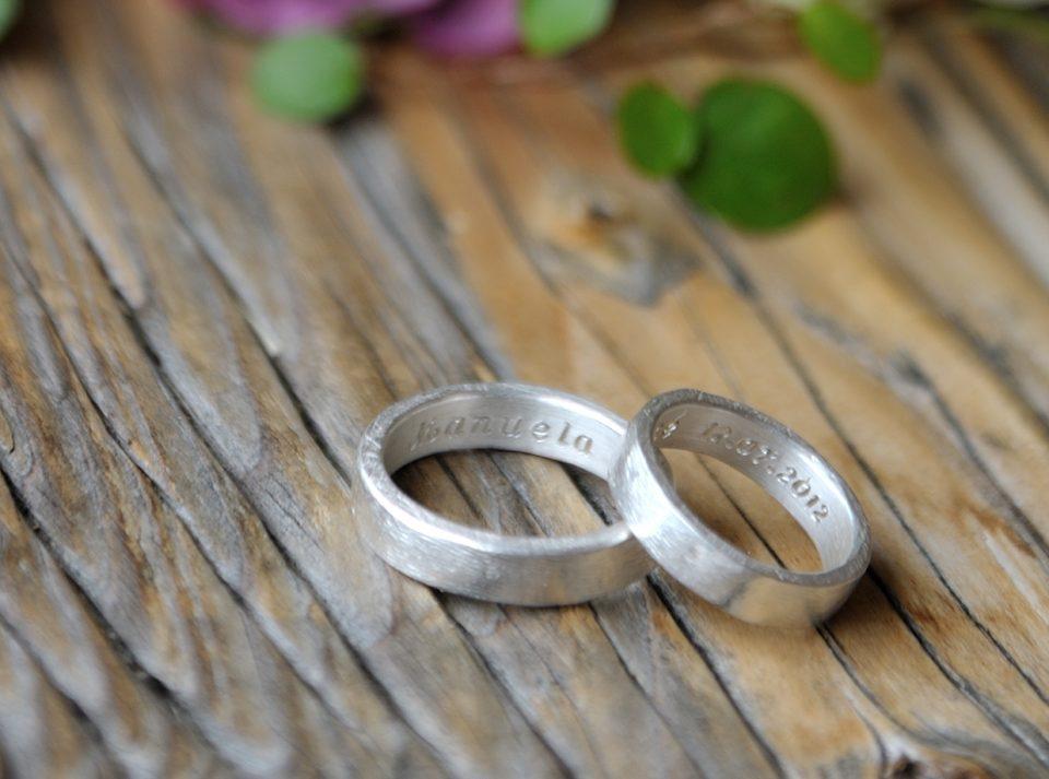Kundenauftrag : Eheringe aus 925er Silber