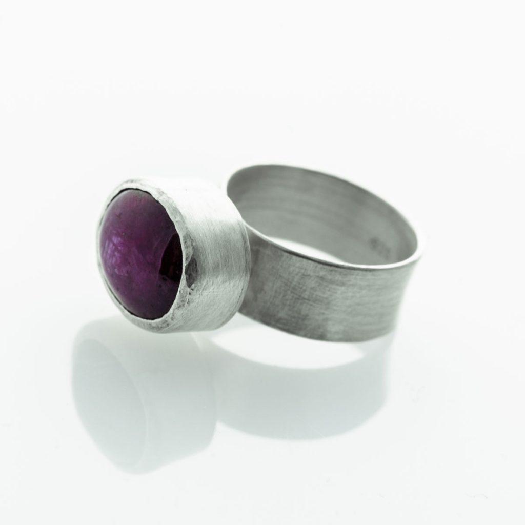 Sternrubin, 925er Silber